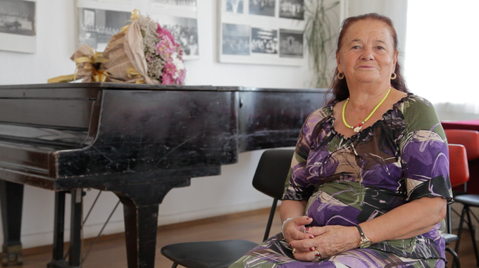 Interview with Valya Balkanska in Smolyan, Bulgaria, August 2017. She is one of Bulgaria's greatest national treasures and learning about her music floating in outer-space as young children really planted the seed for our project.