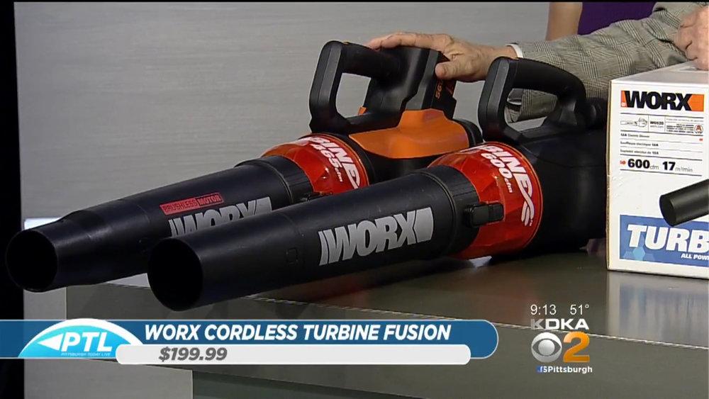 WORX 56 Volt Cordless Turbine Fusion Blower - $199.99(800) 859-2501WORX.comAmazon & Walmart