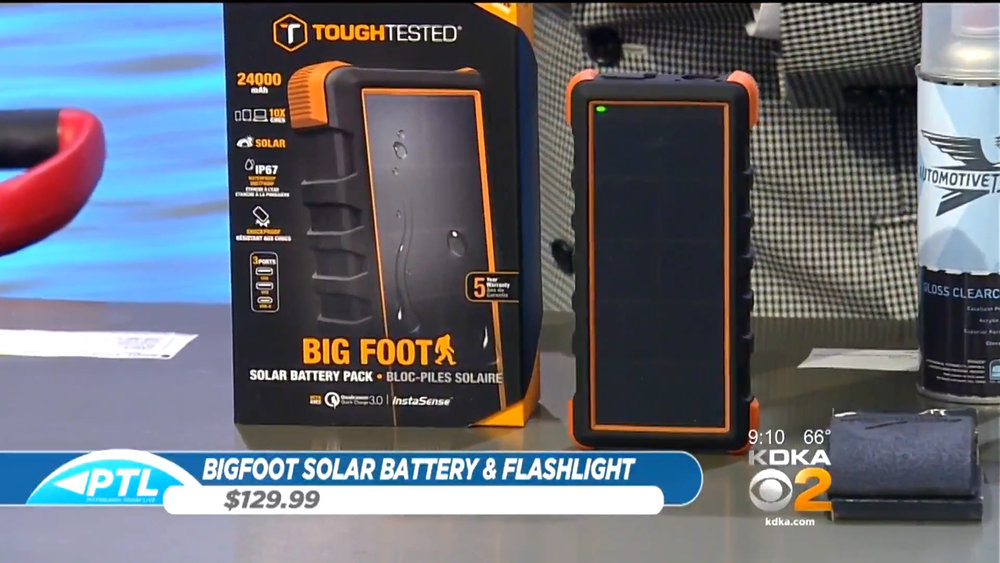 BIGFOOT SOLAR BATTERY PACK WITH FLASHLIGHT - $129.99Shop Now