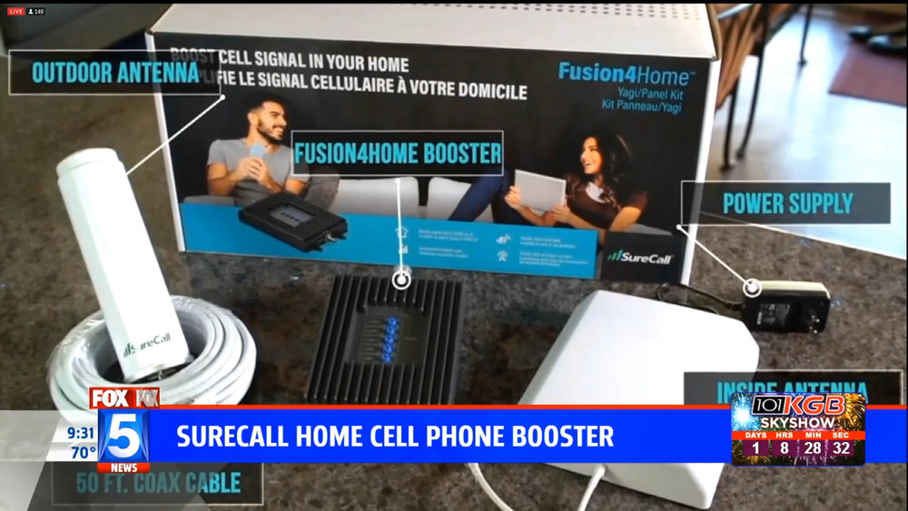 SURECALL FUSION 4 HOME CELL PHONE BOOSTER - $299.00Shop Now