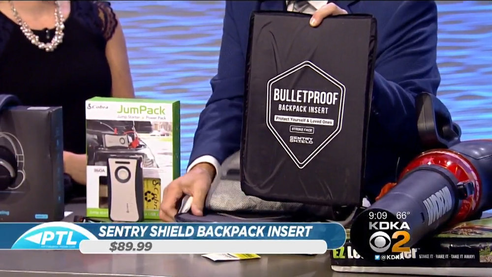 SENTRY SHIELD BULLETPROOF BACKPACK INSERT - $89.99Shop Now