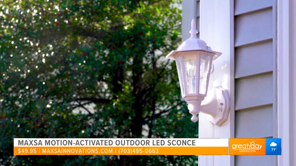 MAXSA MOTION-ACTIVATED OUTDOOR LED WALL SCONCE - $49.95, available exclusively on HSNShop Now