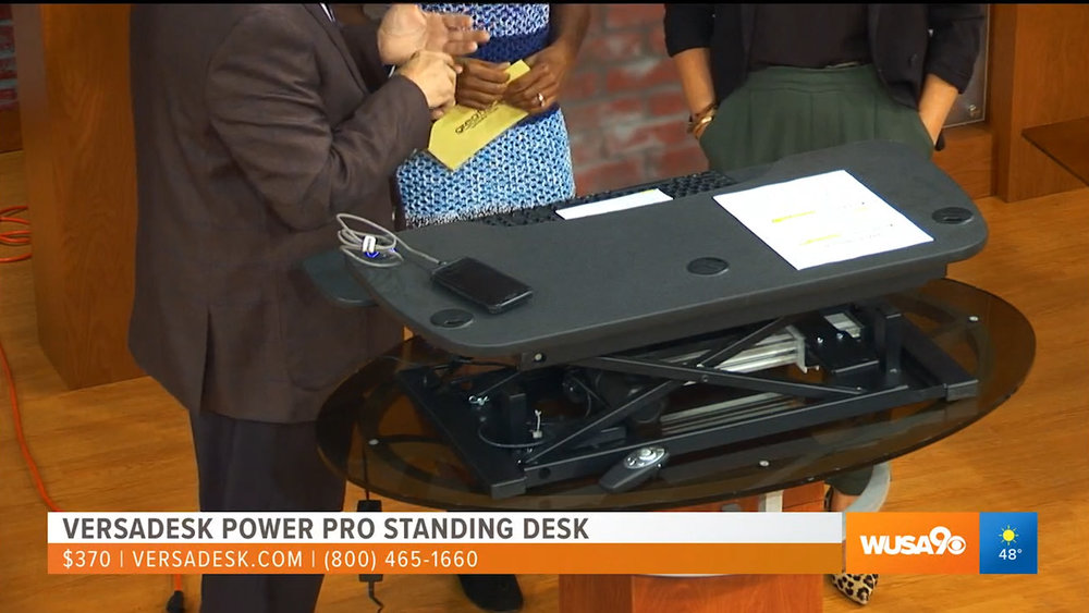 VERSADESK POWER PRO STANDING DESK - $370.00Available online at versadesk.com, Staples, Office Depot, and now available in select Office Depot stores nationwide.