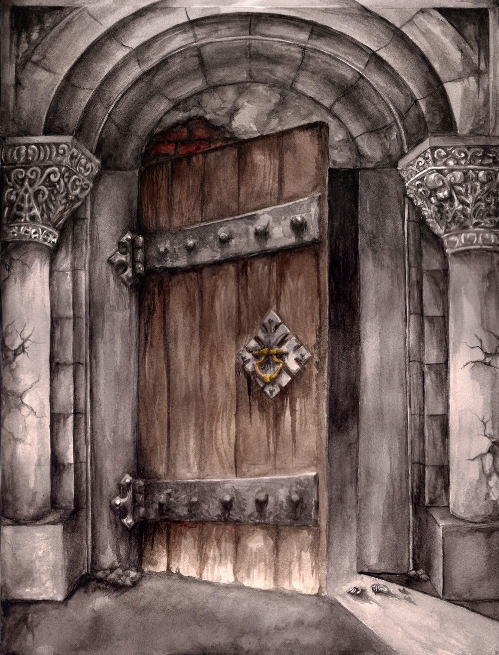 the Door (book illustration)