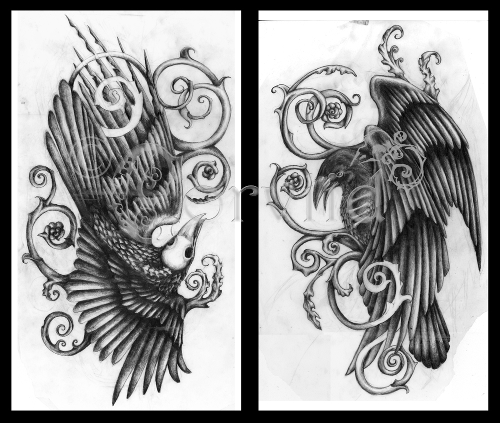 Raven calf pieces