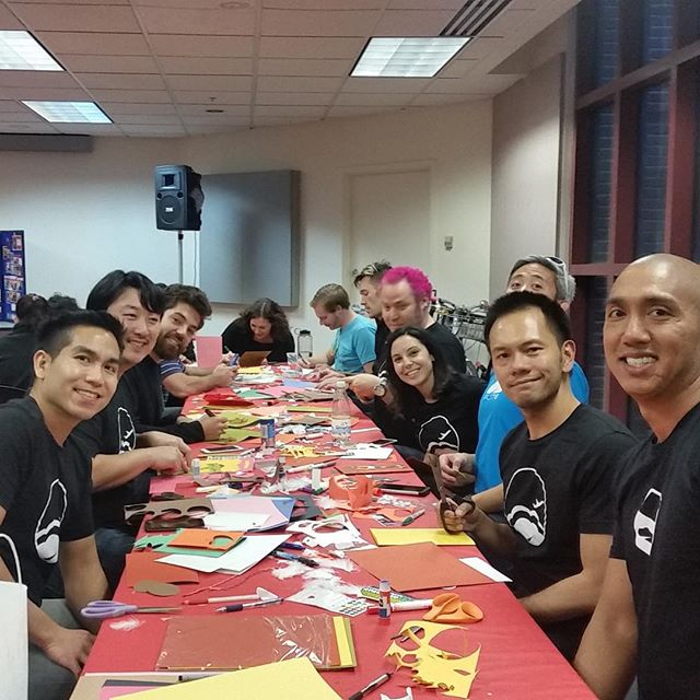 Flite crew making cards for Friends of the Elderly #startupsgiveback #friendsoftheelderly #happythanksgiving #payitforward