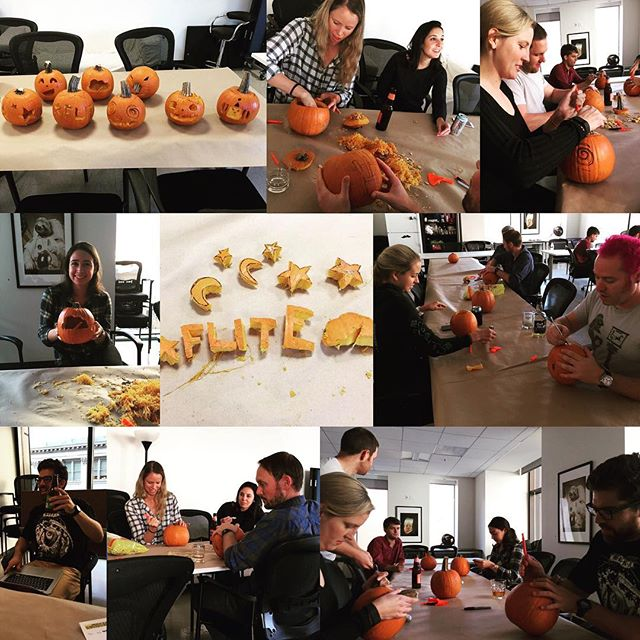 Thirsty Thursday meets pumpkin carving #thirstythursday