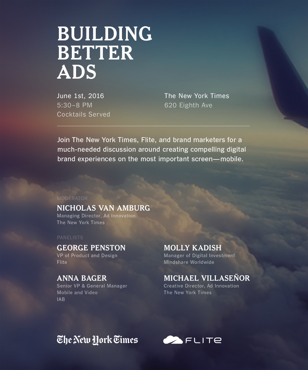 Building Better Ads • June 1, 2016 at The New York Times