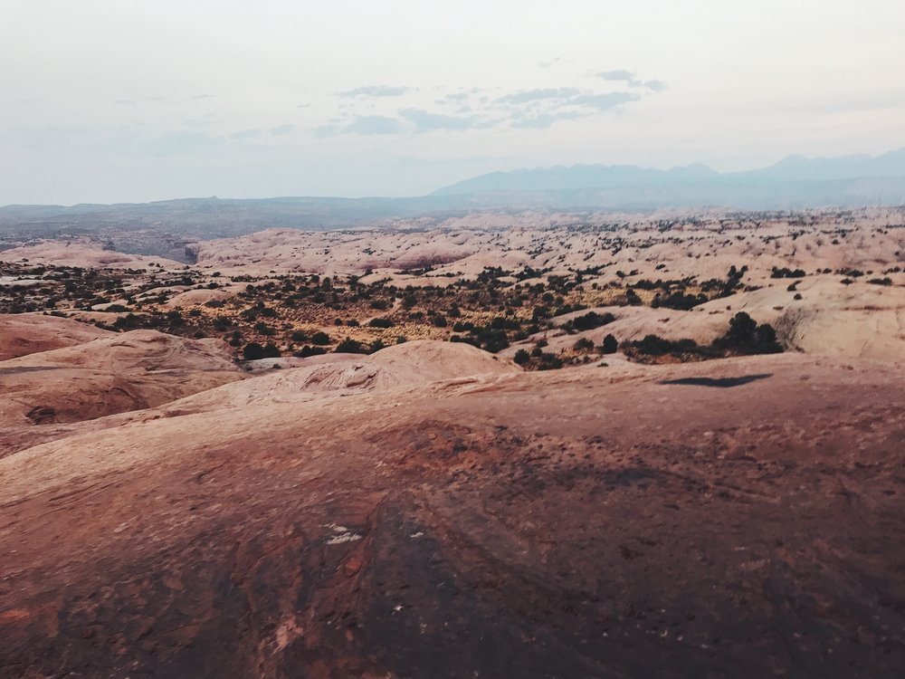 sand flats in a 4 x 4, moab, utah.