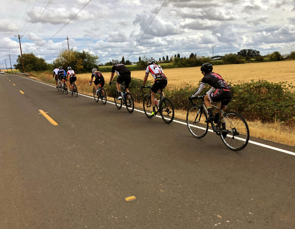 kim cycling in oregon, 2018