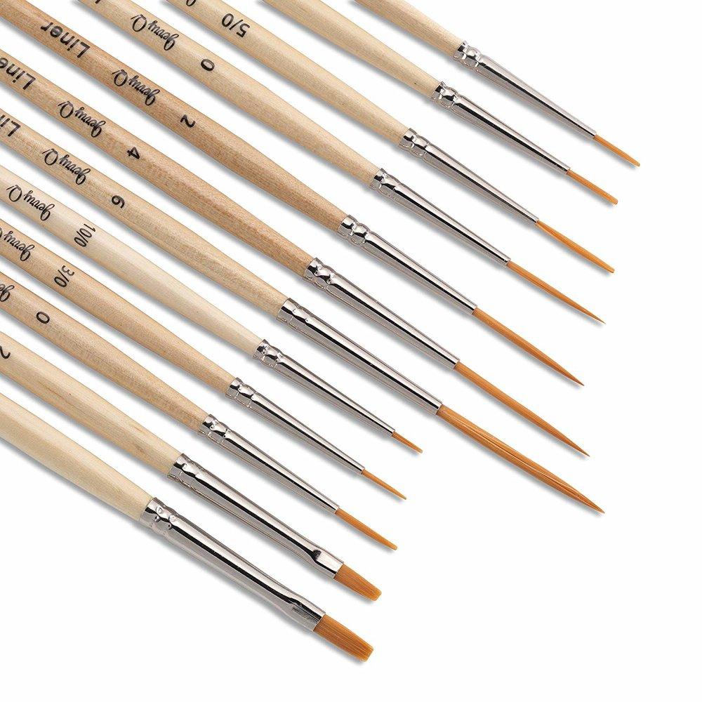 liner brushes, $8.50