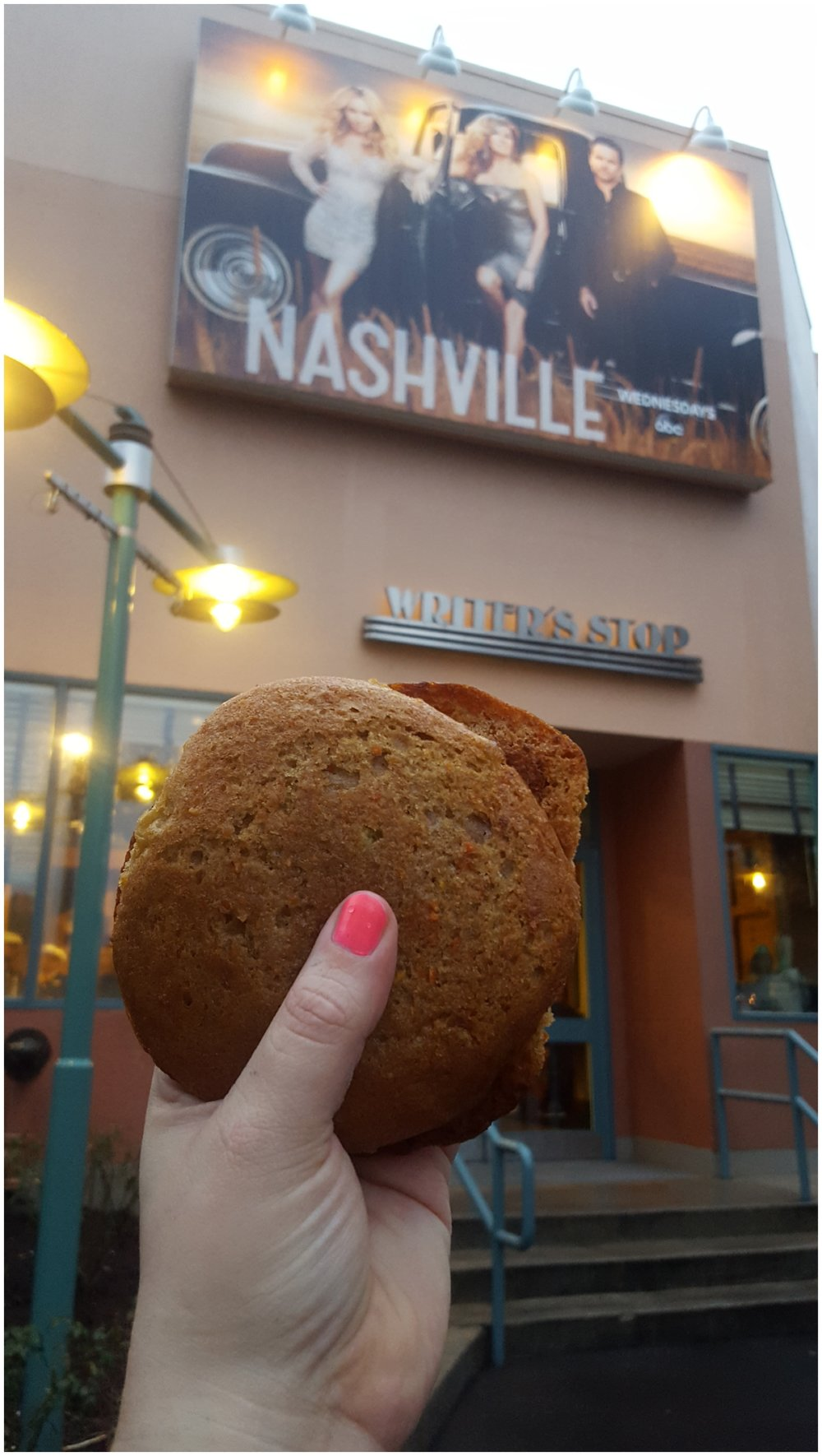 You can't leave Hollywood Studios without sharing a carrot cake cookie from the Writer's Stop!