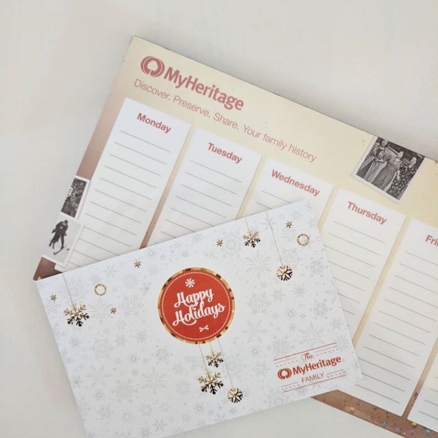 Thanks for the holiday treats, @myheritage_official! Be sure to check out their incredible deals right now on genealogy kits and services. . . . #genealogical #genealogist #genealogy #christmas #holidaygifts #DNA #research