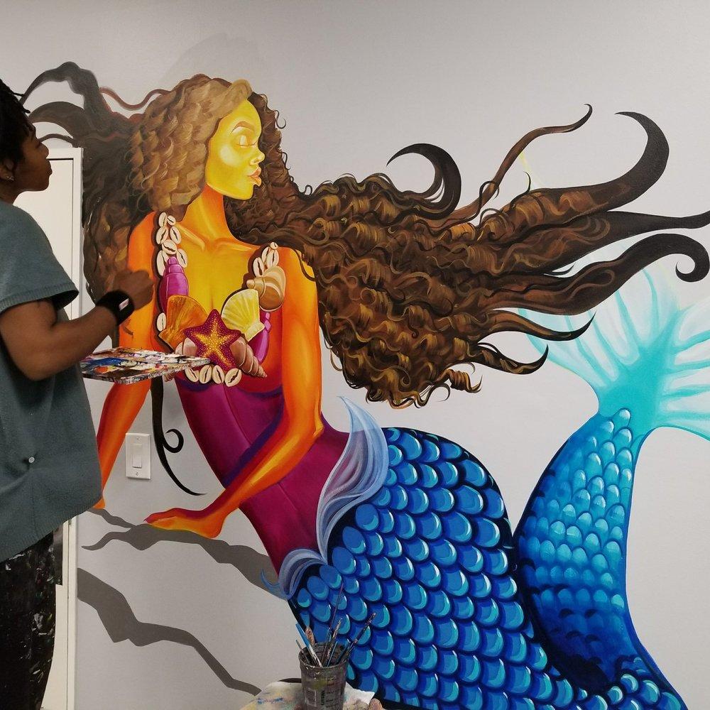mermaid+mural