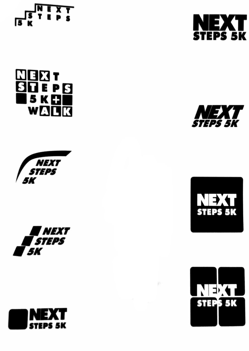 Stage Three: Black and White Logo Drafts