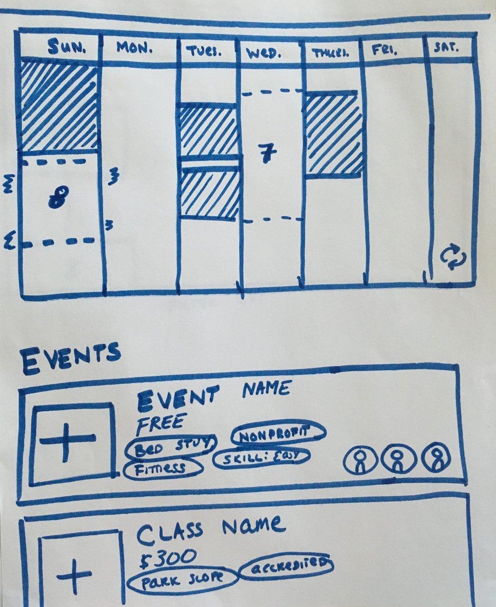 Explore Page Sketch