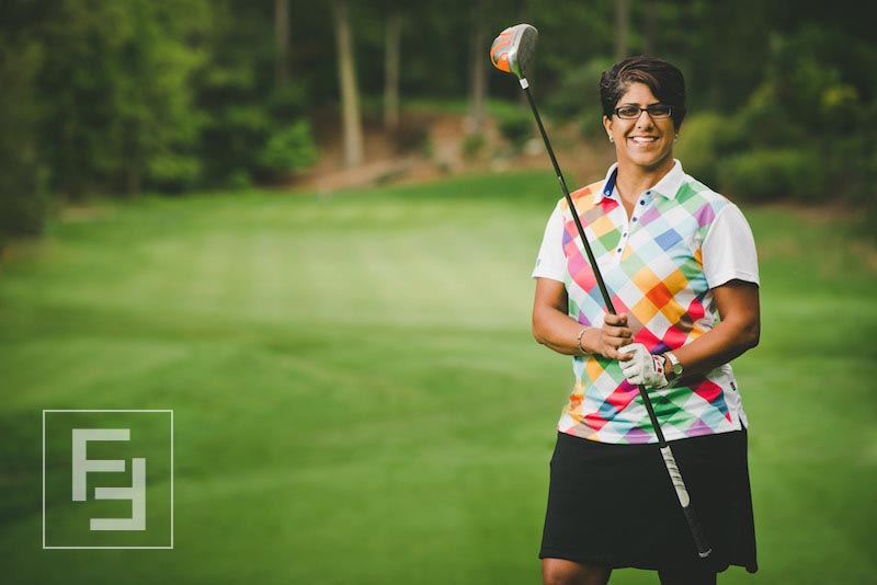 "Fareen Samji, Panelist - Fareen ""Far"" Samji is the current ILDC International Women's Long Drive Champion and 5-time ILDC Canadian Women's Long Drive Champion(2012-2016).  With a personal best Long Drive of 334 yards, at 5'5"" tall, she is considered small for the sport, proving that bigger isn't always better… better is better. And, at only 42 years old, she has achieved success as an entrepreneur, an internationally acclaimed athlete, and a community leader."