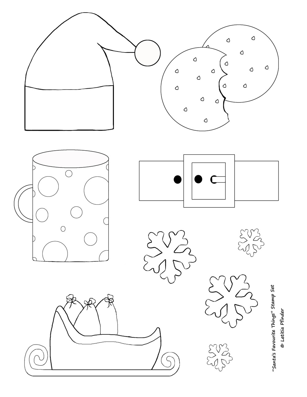 Santa's Favourite Things Stamp Set Full Size