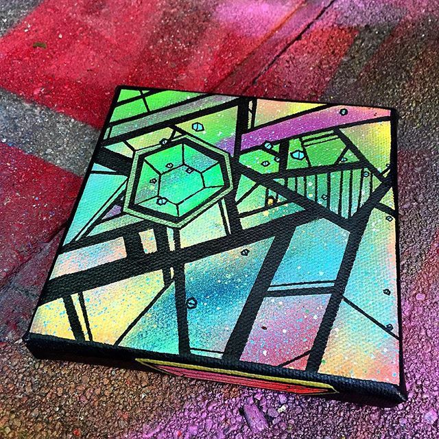 #tiny #little #abstract #canvas #painting #glitter #gems #art #colorful #shapes #green #line #shape #curves #artwork #creative #drawing #sketch #freehand #arte #clean #work #flow #norm4eva