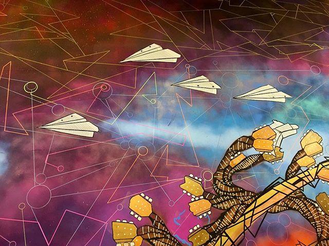 #fresh #norm4eva #paperplanes #painting #freehand #mural #art #spraypaint #graffiti #streetart #interior #style #line #shape #arte #drawing #sketch #work #flow #love #abstract