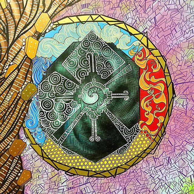 #fresh #norm4eva #details #freehand #mural #painting #drawing #sketch #colorful #sacred #psychedelic #art #artwork #hunabku #arte #guitar #tree #streetart #graffiti #style #interior #wallart #lineart #work #flow #love