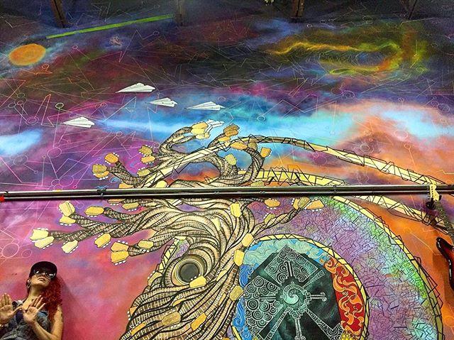 #fresh #norm4eva #totemstringedinstruments #spraypaint #interior #colorful #abstract #artist #art #ink #painting #drawing #graffiti #streetart #guitar #tree #clouds #space #music #details #custom #artwork #psychedelic #love #wutang #4eva