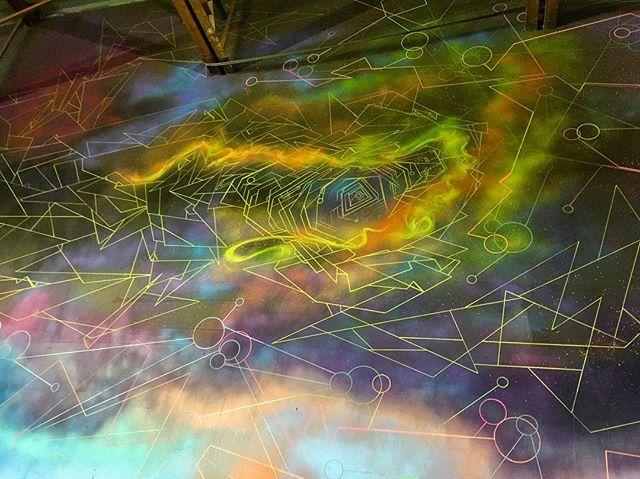 #fresh #norm4eva #space #galaxy #details #custom #interior #mural #painting #sky #clouds #spraypaint #art #colorful #streetart #graffiti #style #artwork #abstract #wallart #work #flow #love