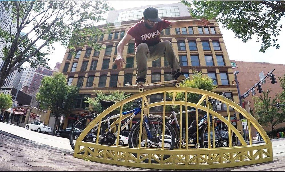 Dave Kaule - Frontside 180 Mellon Grab