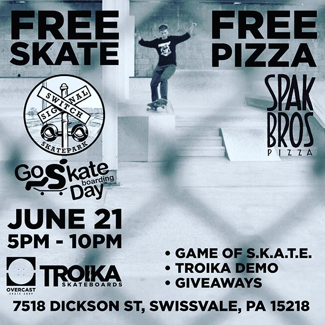 Lookin like rain on GO SKATE DAY🤔 come skate for FREE @switchandsignalskatepark Thursday 5pm!!! Hope all a yinz roll aht!ledge dancin clip filmed by @tipsymcstagger9