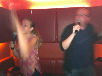 A very serious performance of Limp Bizkit's Break Stuff at a Karaoke Bar in London.
