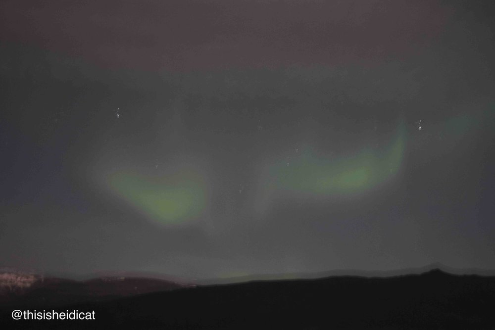 This is the first photo that really captured the Northern Lights and they look like angels wings!