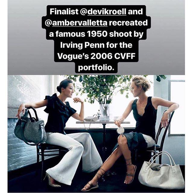 Thanks @voguerunway for featuring this old shoot with gorgeous @ambervalletta and me in @voguemagazine - @cfda Fashion Fund - Before my @DaxGabler Days #VogueGirl #VogueDesigner #VogueModel 🤩 📸 #NormanJeanRoy Editor: @jdiehlpoynter