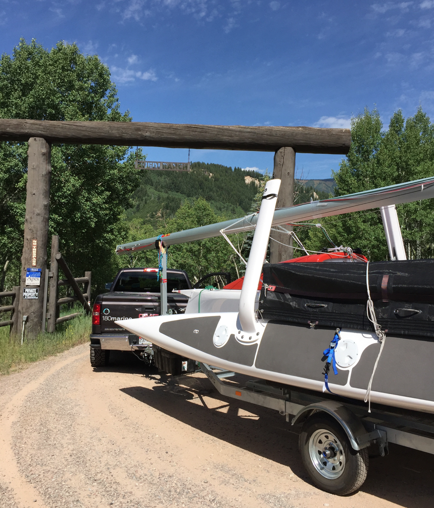 Arriving at the Aspen Open Regatta Summer 2016