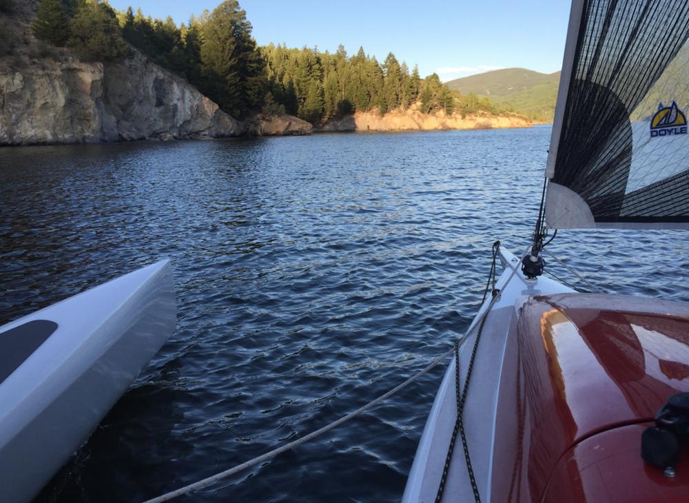 Sailing on Reudi Reservoir