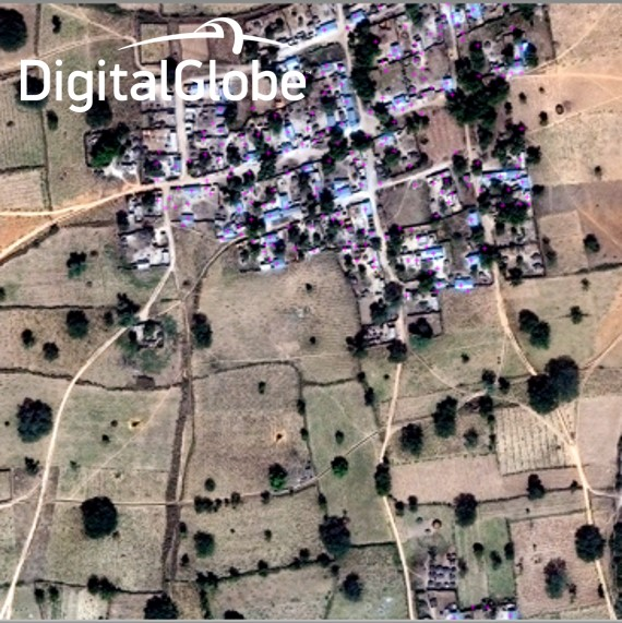 High resolution imagery and crowd sourcing help identify remote villages.