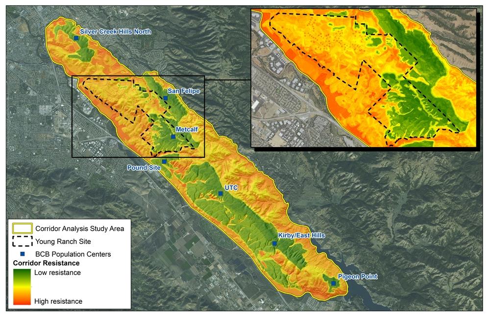 Figure 5.  Corridor habitat resistance model