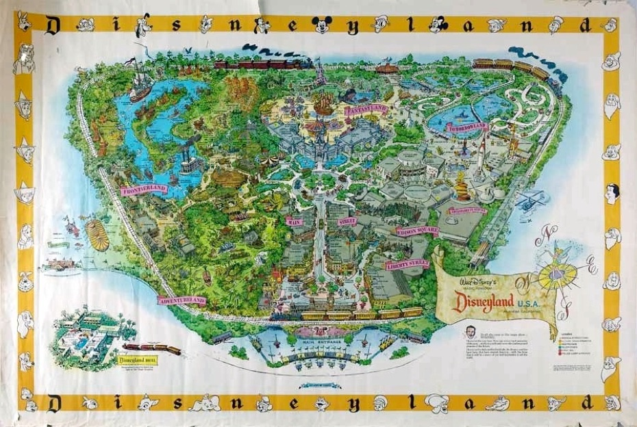 Figure 5.  1958 map of Disneyland Photo credit:  http://www.mousemaps.com/MouseMaps/1958_-_1964.html