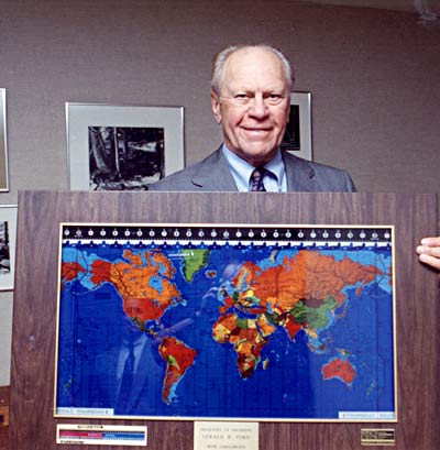 President Ford with his Geochron