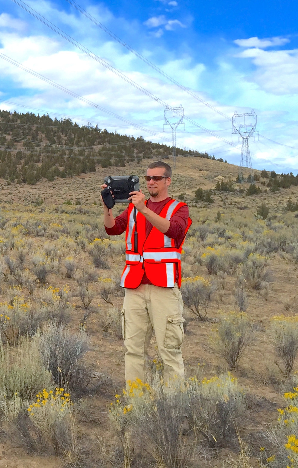 Matt with Mobile GIS in the field