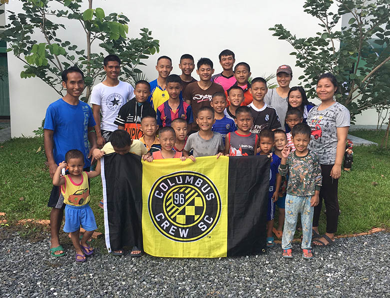 The kids and staff we're supporting in Northern Thailand through our partnership with Asia's Hope.