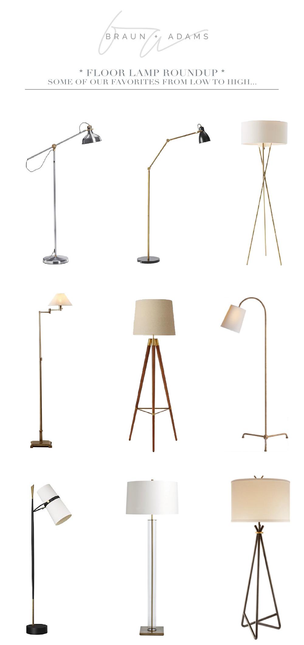 Floor lamp roundup braun adams aloadofball Gallery