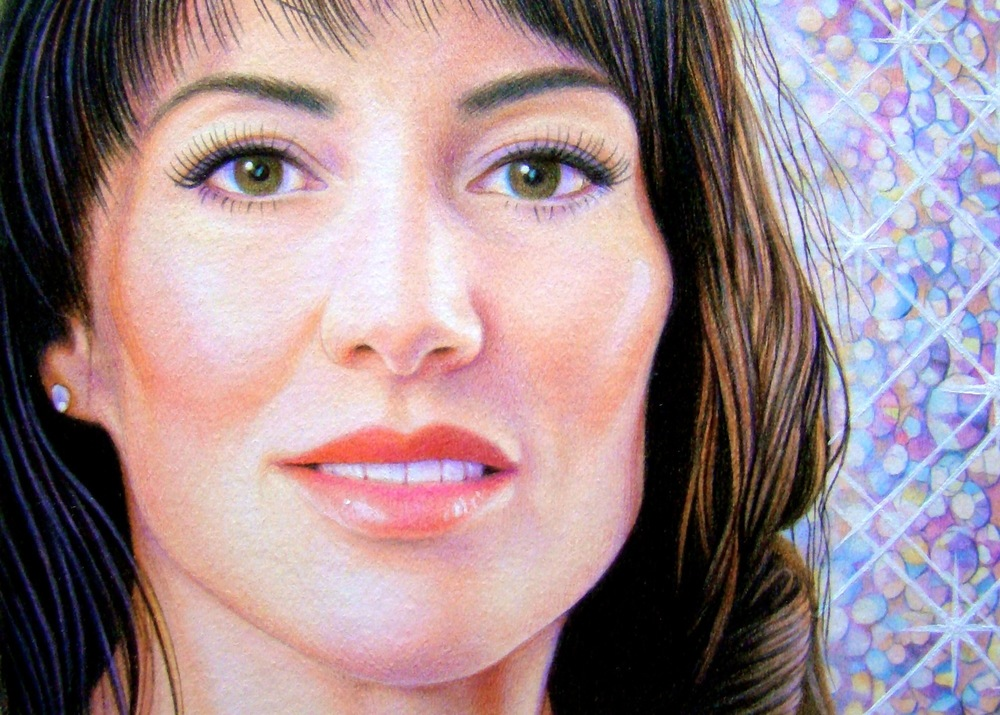"Decadent Kim , colored pencil, 5"" x 7""  by Mary Jones Easley"