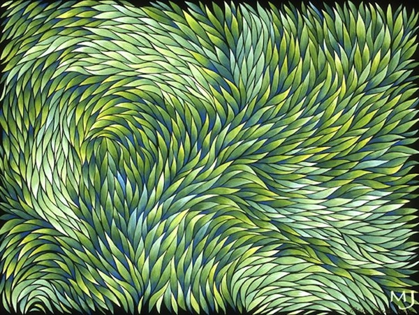 "Growth , acrylic on canvas, 18"" x 24""  by Mary Jones Easley"