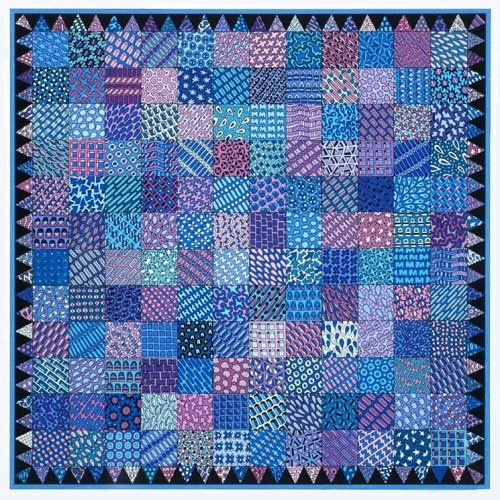 "Patchwork Quilt #2 , mixed media, 13"" x 13""  by Mary Jones Easley"