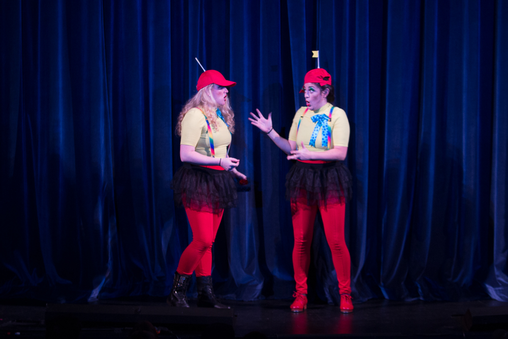 Kasia & Anita as Tweedle Dum and Tweedle Dee in Our Adventures in Wonderland.