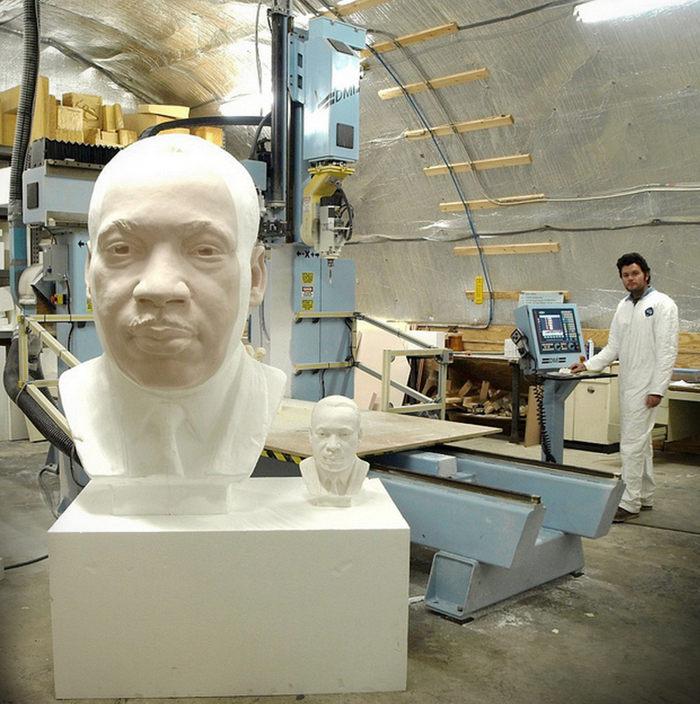Digital foam enlargement of Martin Luther King Jr.