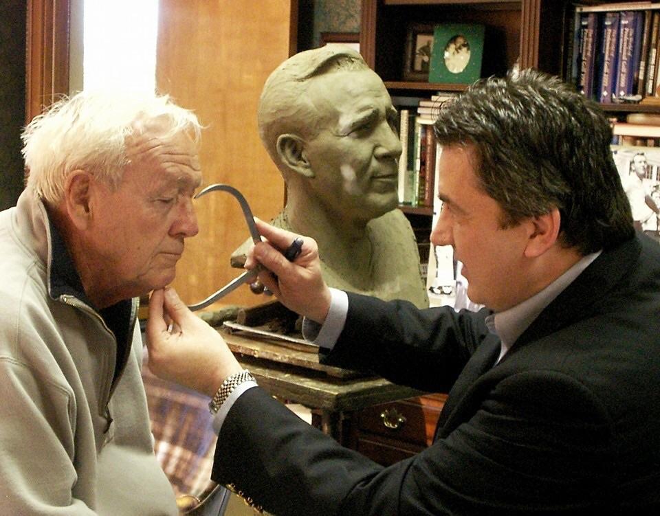 Arnold Palmer in Zenos's studio