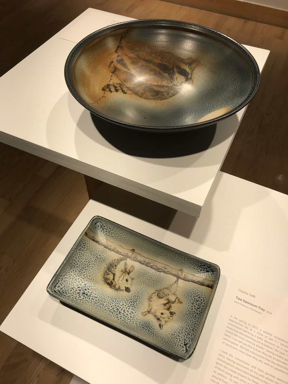 Two Oppossum Tray and Raccoon Moon by Charlie Teft