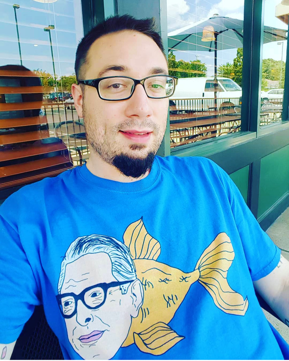 Daniel Peoples wearing Jeff Goldfish in North Carolina