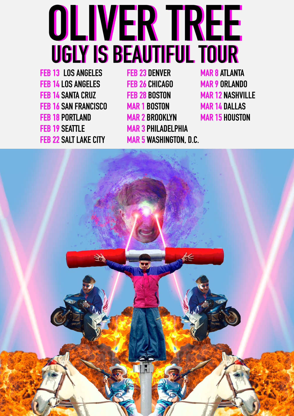 Unofficial Oliver Tree Tour Poster